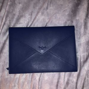 Berluti Leather Envelope Clutch